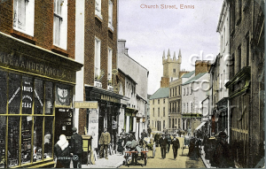 Church Street, Ennis at the end of the nineteenth century.